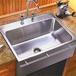 Single bowl top mount apron front sink by Just Manufacturing