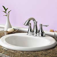 Acrylic top mount lavatory sink