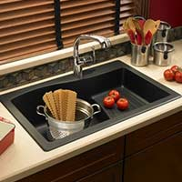 Granite kitchen prep sink