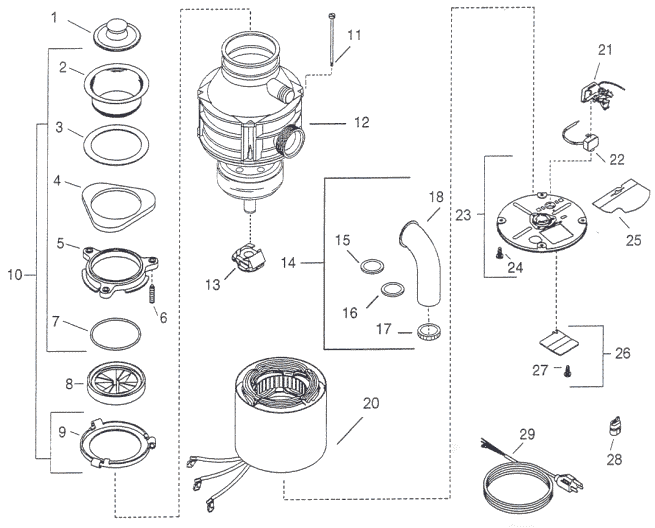 Repair parts for insinkerator badger 1 and badger 5 garbage disposers on wiring a garbage disposal diagram Diagram of Disposal wiring diagram for installing a garbage disposal