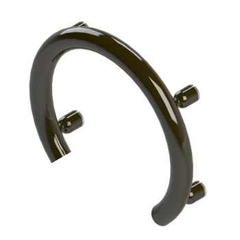 Accent ring grab bar in powdercoat oil rubbed bronze finish