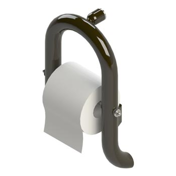 Toilet paper holder grab bar in powdercoat oil rubbed bronze finish