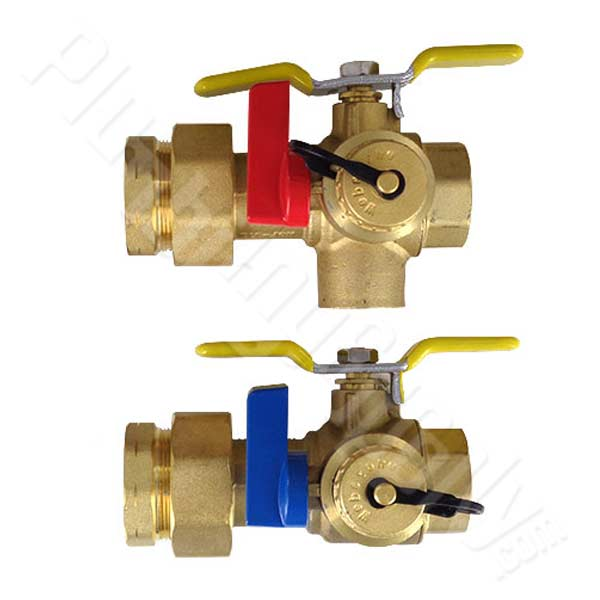 "Isolation valve set - 1"" FIPS union by 1"" FIPS connection"