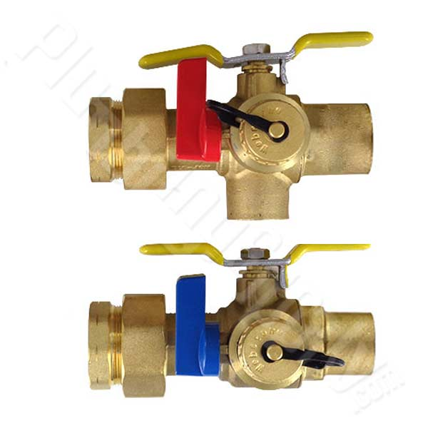 "Isolation valve set - 1"" FIPS union by 1"" sweat connection"