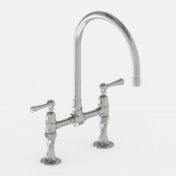 Jaclo 10in swivel spout steam valve faucet with metal lever handles