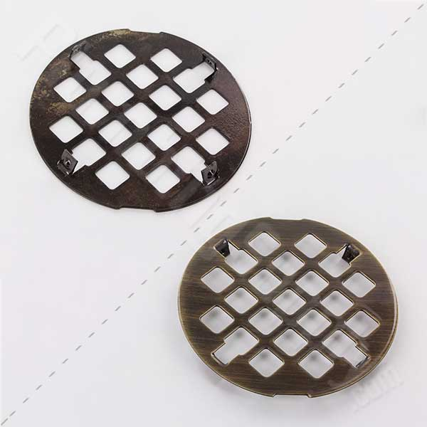 Jaclo antique brass finish drain cover