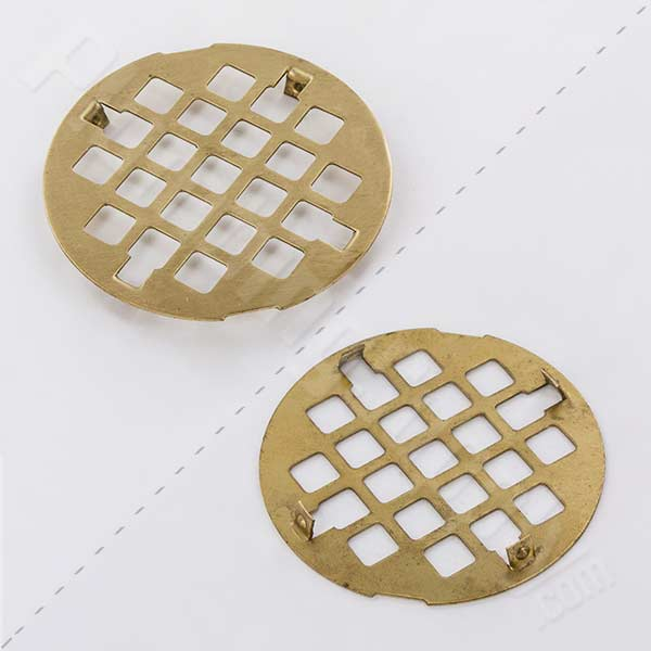 Jaclo satin brass finish drain cover