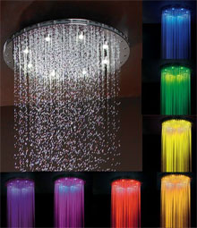 Luxurious Chromatherapy Quot Dream Light Quot Shower Heads By Jaclo