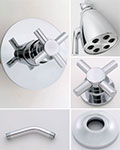 Jaclo Contempo cross handle thermostatic shower system
