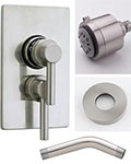 Jaclo Cylindrico thermostatic shower system