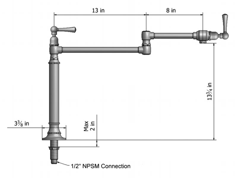 Steam Valve Original Pot Filler Faucets