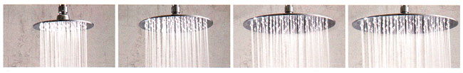 Jaclo round rain machine shower head
