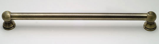 photo of the smooth style grab bar, shown in antique brass finish