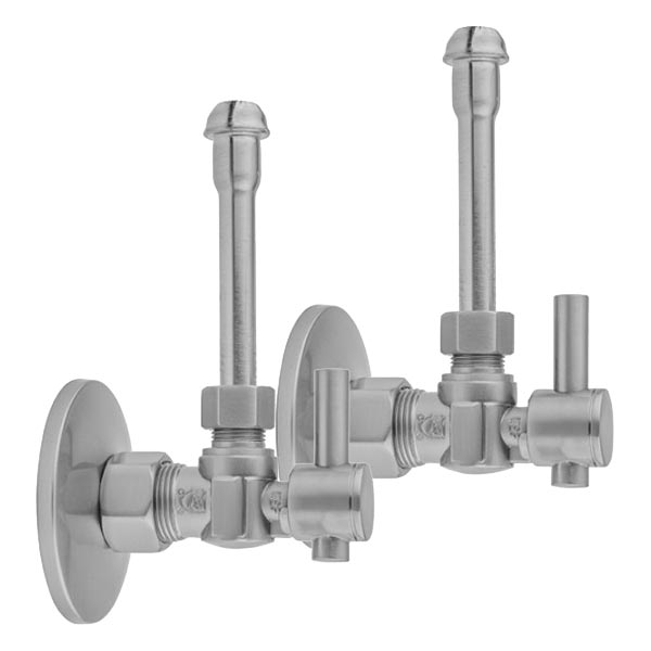 Faucet supply valve kit with angle stops and contemporary lever handles - #621-62