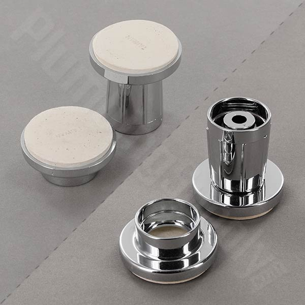 Adjustable tension mounted 'jiffy' shower rod flange in Polished Chrome