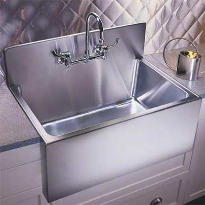 Oversized Sinks Kitchen : ... apron front single bowl drop-in kitchen sink with backsplash