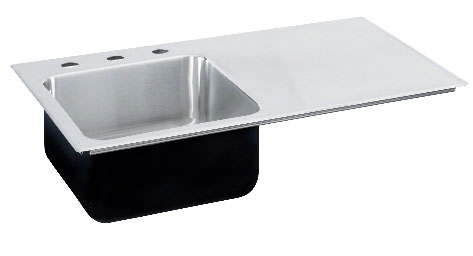 Genial Image Of Right Side Drainboard Stainless Steel Sink