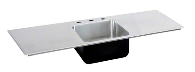 image of the double drainboard single bowl sink - Single Or Double Kitchen Sink