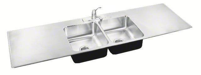 ADA compliant sinks with drainboards, stainless steel