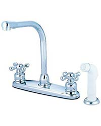Contemporary high arc kitchen faucet