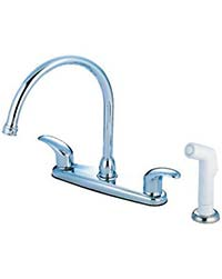 Kitchen faucet with lever handles