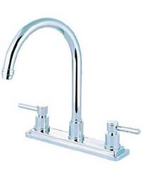 Contemporary gooseneck kitchen faucet