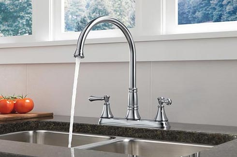 Replacing A Kitchen Faucet Save How To Install Tile