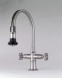 Steam Valve Original kitchen faucets with pull-off swivel spout