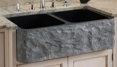 chiseled granite kitchen sink. beautiful ideas. Home Design Ideas
