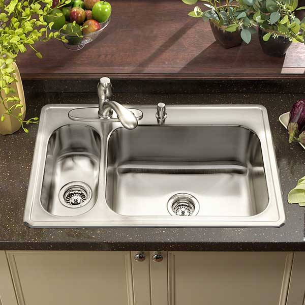 ... for kitchen sinks: Drop-In, Undermount, Flat Rim, and Apron-Front