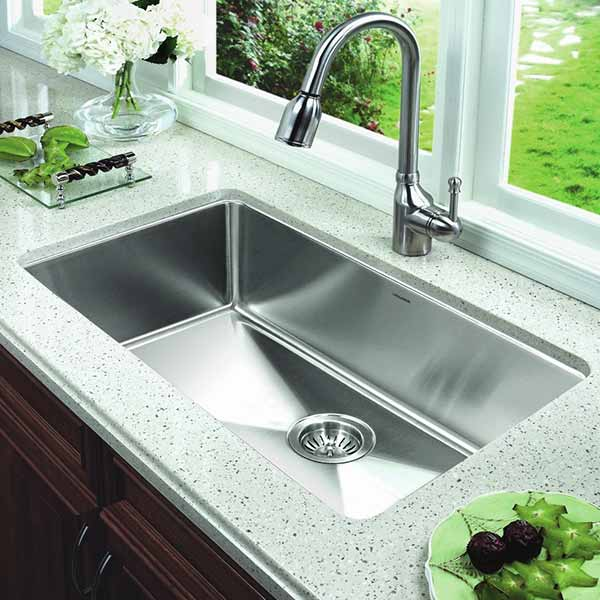 single bowl kitchen sink oversized single bowl - Kitchen Sink Sizes