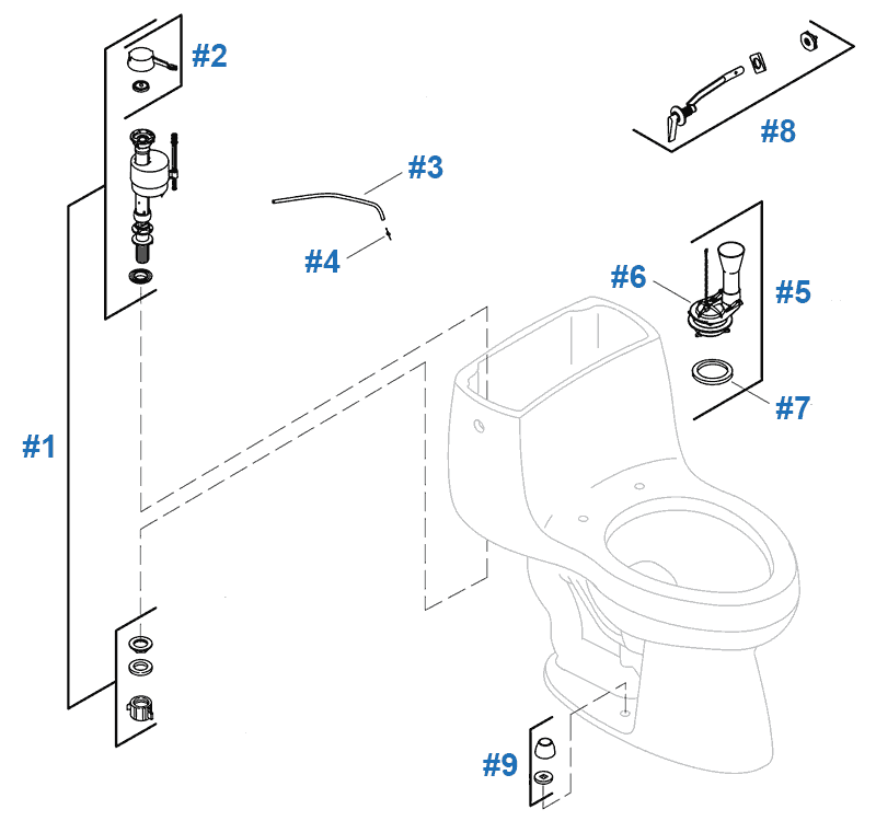 Laureate toilet repair parts
