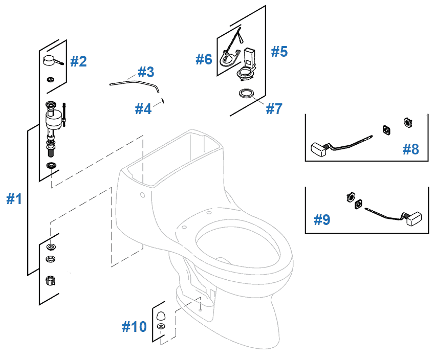 Stupendous Gabrielle Toilet Replacement Parts By Kohler Dailytribune Chair Design For Home Dailytribuneorg