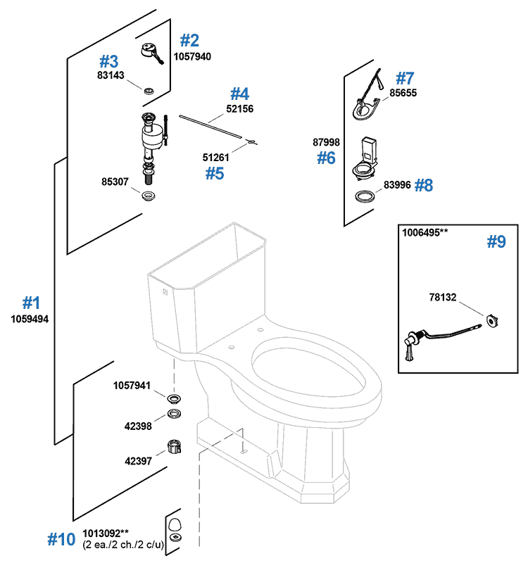 Replacement Parts For The Kohler Kathryn Toilet