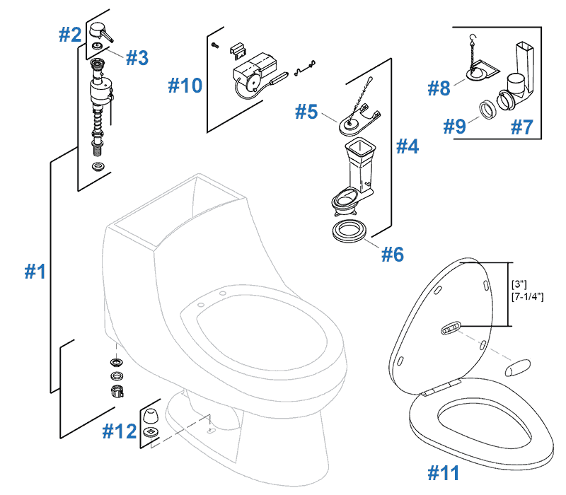 Rosario Toilet Repair Parts By Kohler