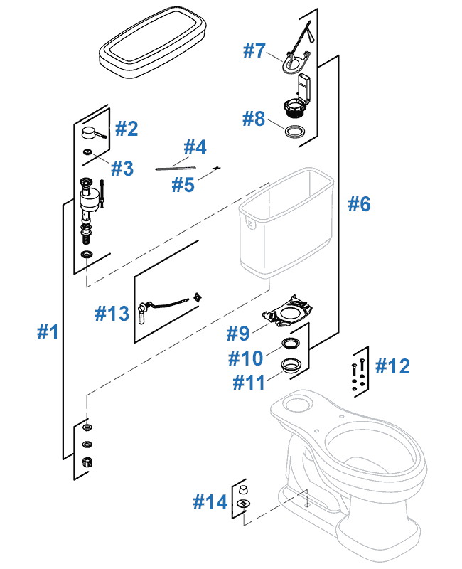 Replacement Parts For The Kohler Bancroft Toilet