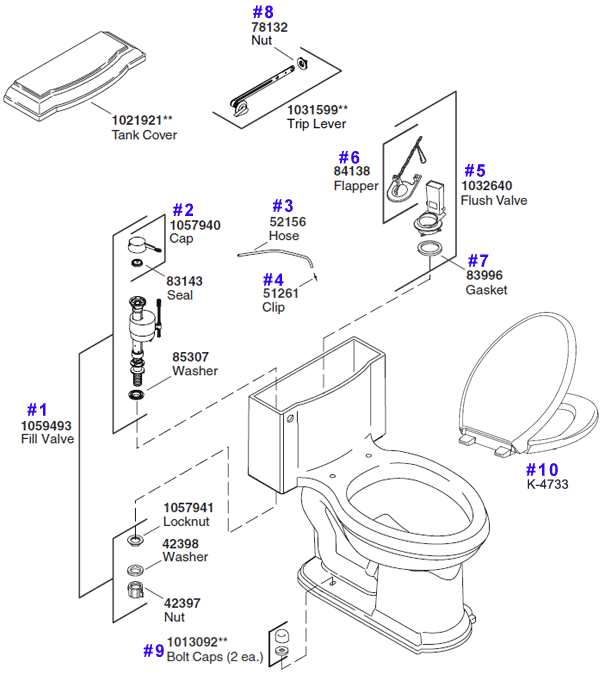 kohler toilet replacement parts the devonshire onepiece model k3488 - Kohler Devonshire