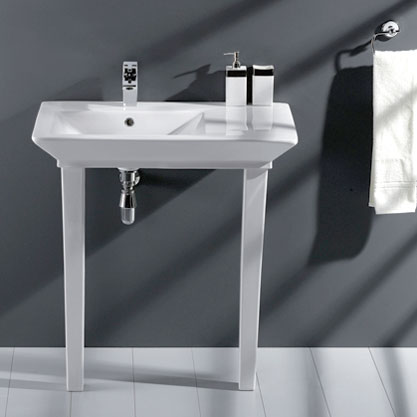Barclay Opulence Square Bowl Console Sink Opulence  Awesome Design