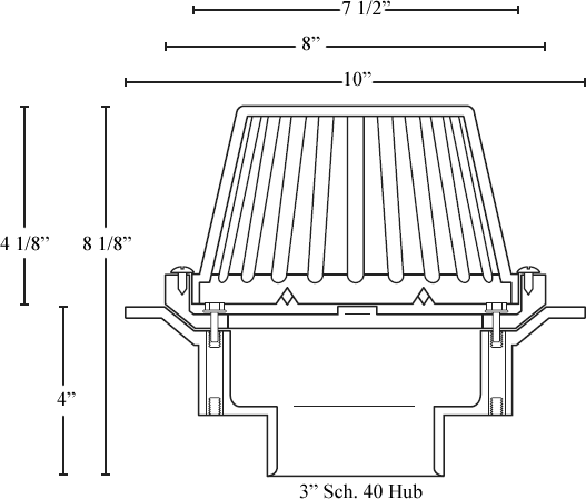 Commercial Roof Drains Pvc Abs And Cast Iron