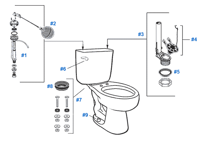 mansfield alto toilet replacement parts