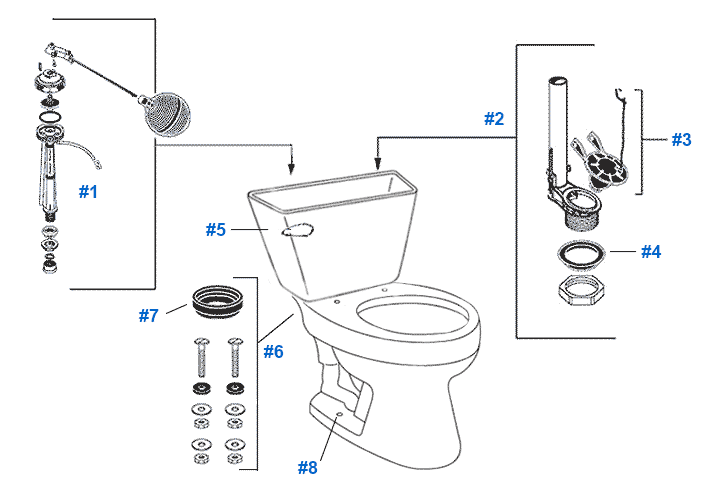 mansfield easton toilet replacement parts