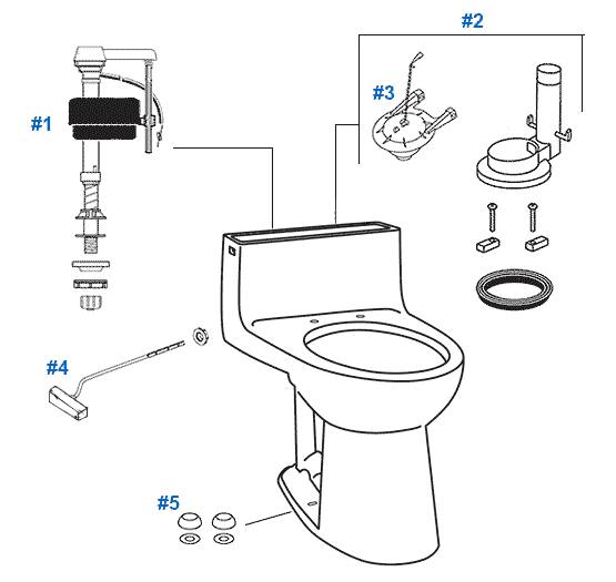 mansfield magnum toilet replacement parts