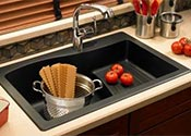 Quartz granite sink