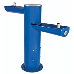 ADA compliant double trough drinking fountain