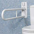 Folding bathroom grab bars