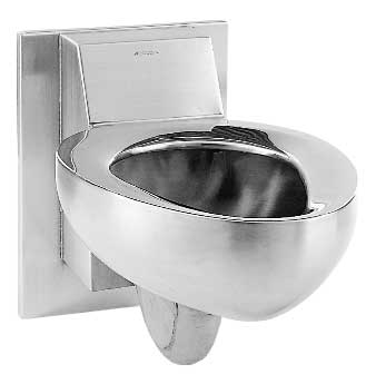 image of the Metcraft 4110 stainless steel wall hung security toilet