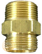 Photo of a brass hose adapter