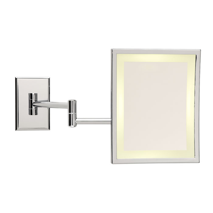 An Image Of The Miroir Brot Square Bd Mirror With Halo Light Double Arm