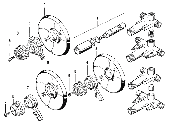 mixet shower faucet parts