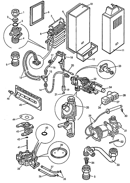 Tankless Gas Water Heater Parts Diagram